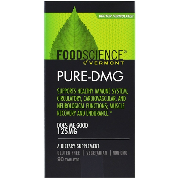 FoodScience, Pure-DMG, 125 mg, 90 Tablets (Discontinued Item)