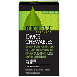 FoodScience, DMG Chewables , 250 mg, 90 Chewable Tablets