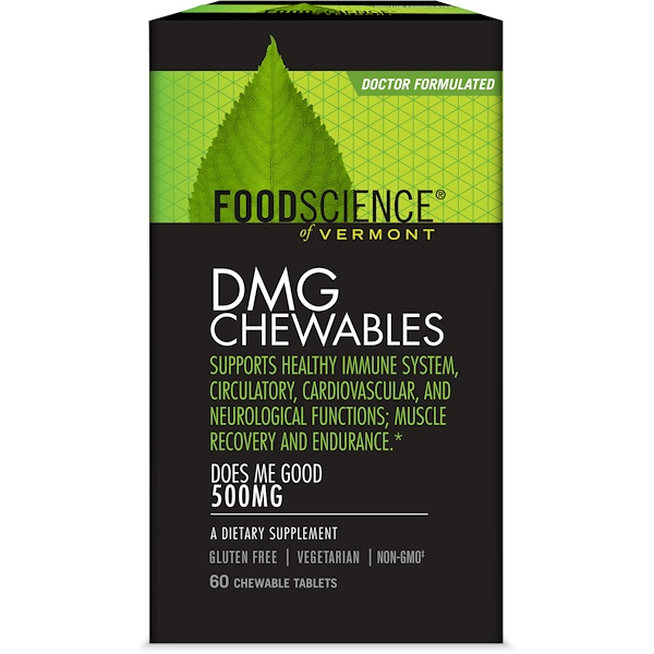 FoodScience, DMG Chewables, 500 mg, 60 Chewable Tablets