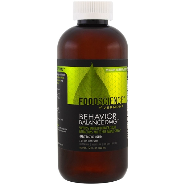 FoodScience, Behavior Balance-DMG Liquid, 12 fl oz (360 ml)