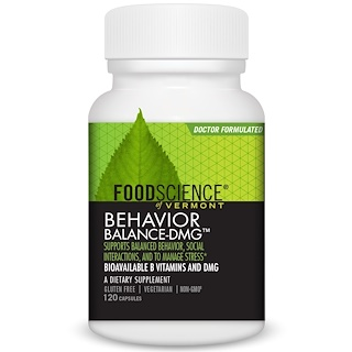 FoodScience, Behavior Balance-DMG, 120 Capsules