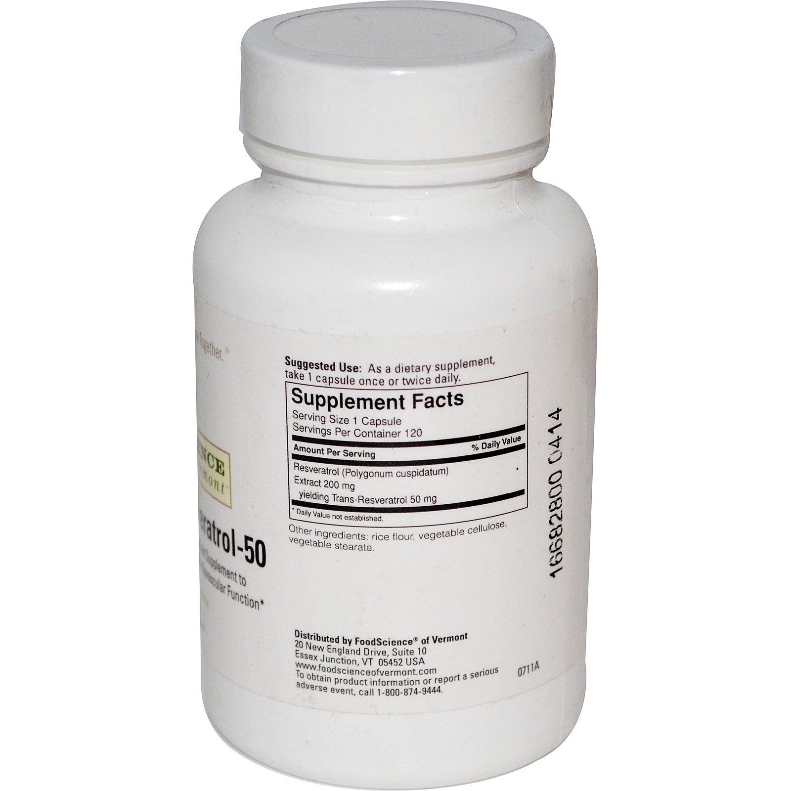 FoodScience, Resveratrol-50, 120 Capsules (Discontinued Item)