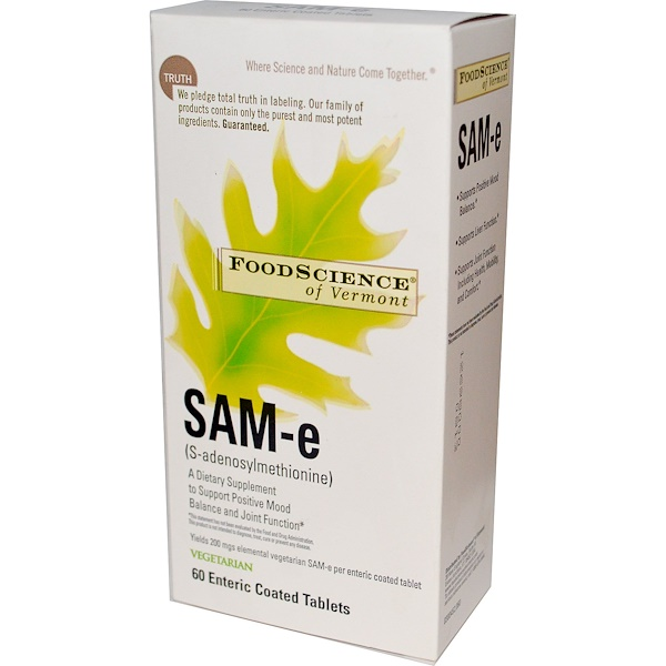FoodScience, SAM-e, 60 Enteric Coated Tablets (Discontinued Item)