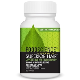 FoodScience, Superior Hair, 90 Capsules