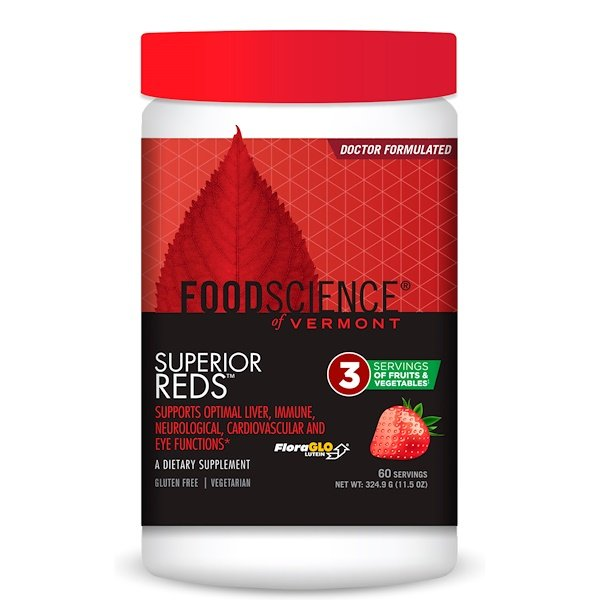 FoodScience, Superior Reds, Strawberry, 11.5 oz (324.9 g) (Discontinued Item)