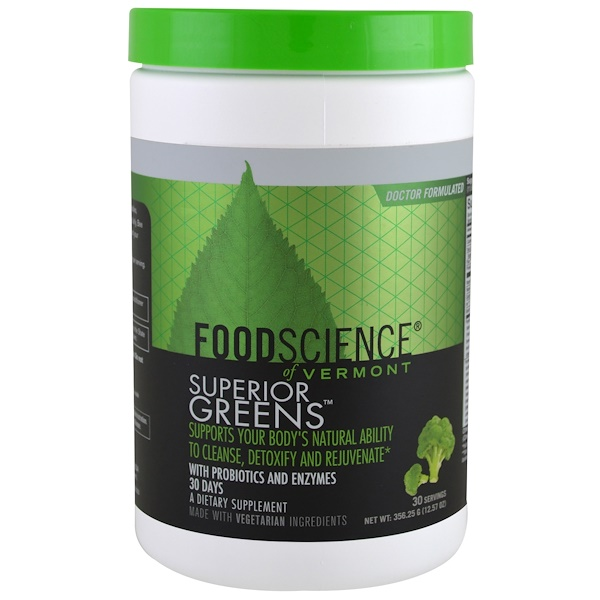 FoodScience, Superior Greens, 12.57 oz (356.25 g) (Discontinued Item)