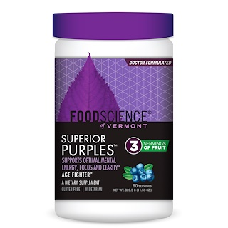 FoodScience, Superior Purples, Blueberry, 11.59 oz (328.5 g)