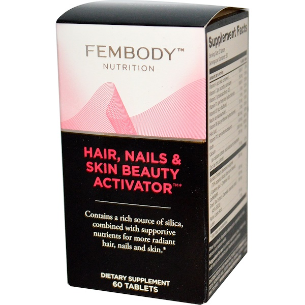 Fembody Nutrition, Hair, Nails & Skin Beauty Activator, 60 Tablets (Discontinued Item)