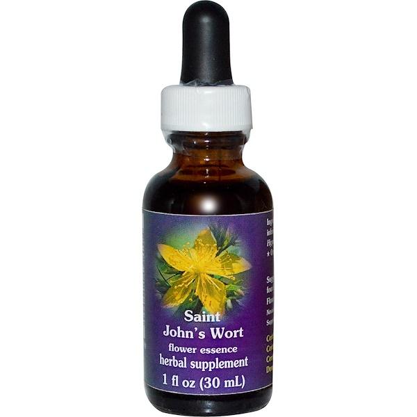 Flower Essence Services, Saint John's Wort, Flower Essence, 1 fl oz (30 ml) (Discontinued Item)