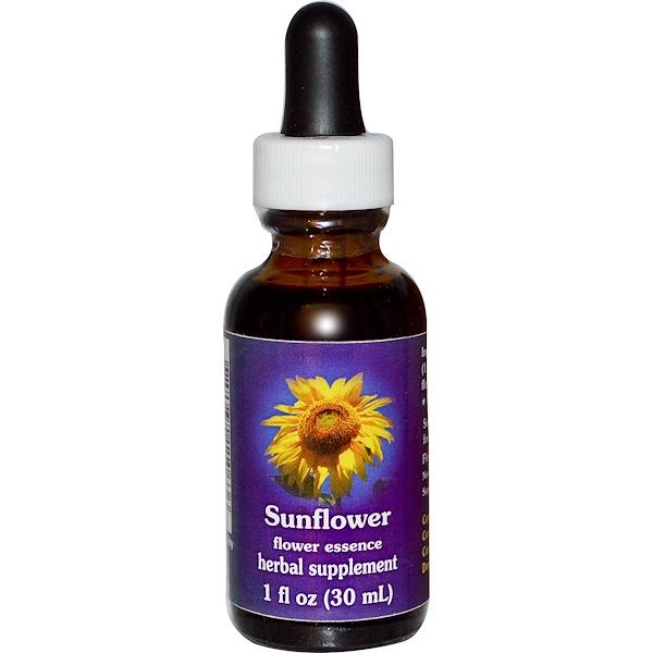 Flower Essence Services, Sunflower, Flower Essence, 1 fl oz (30 ml) (Discontinued Item)