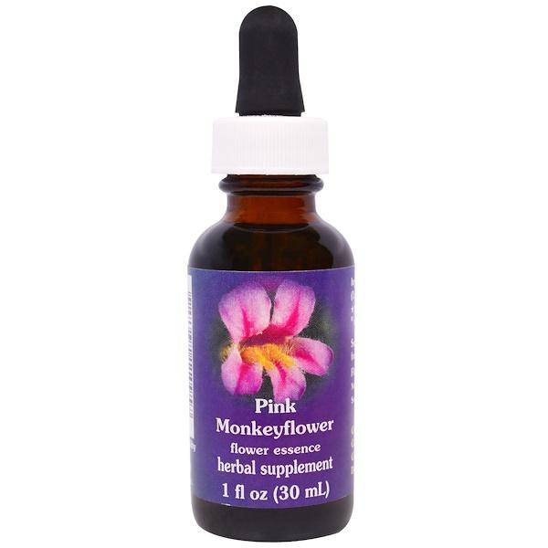 Flower Essence Services, Pink Monkeyflower, Flower Essence, 1 fl oz (30 ml) (Discontinued Item)