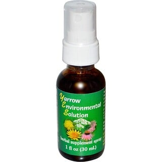 Flower Essence Services, Yarrow Environmental Solution Spray, 1 fl oz (30 ml)