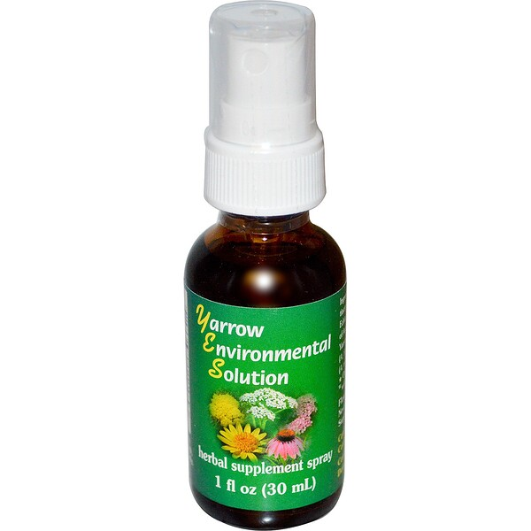 :Flower Essence Services, 西洋蓍草&紫錐菊花精華,1 fl oz(30 ml)
