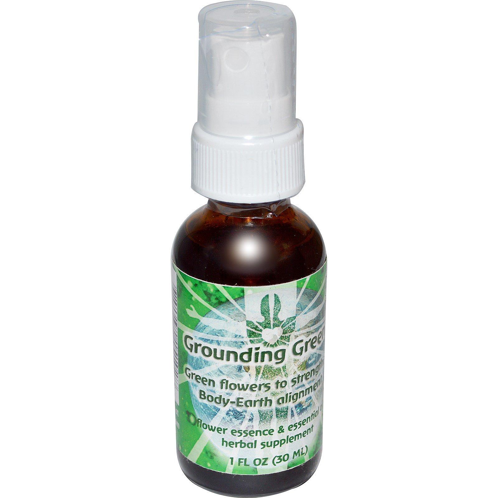 Flower Essence Services, Grounding Green, Flower Essence & Essential Oil, 1  fl oz (30 ml) (Discontinued Item)