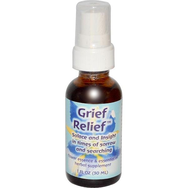 Flower Essence Services, Grief Relief, Flower Essence & Essential Oil, 1 fl oz (30 ml) (Discontinued Item)