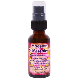 Flower Essence Services, Magenta Self-Healer, Flower Essence & Essential Oil, 1 fl oz (30 ml)