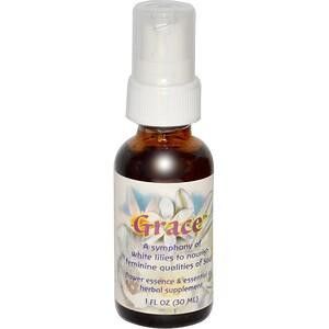 Фловер Эссенс Сервисес, Grace, Flower Essence & Essential Oil, 1 fl oz (30 ml) отзывы покупателей