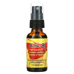 Flower Essence Services, activ-8,花卉香精油,1液體盎司(30毫升)
