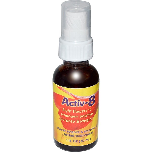 Flower Essence Services, Activ-8, Flower Essence & Essential Oil, 1 fl oz (30 ml)