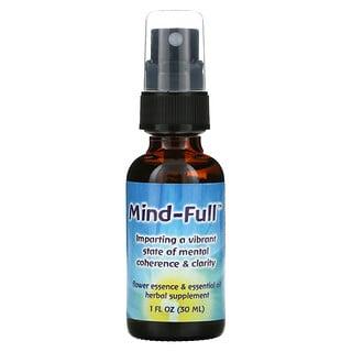 Flower Essence Services, Mind-Full, esencia floral y aceite esencial, 1 oz líquida (30ml)