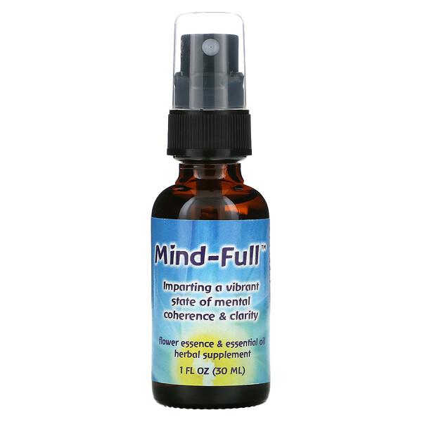Flower Essence Services, Mind-Full, Flower Essence & Essential Oil, 1 fl oz (30 ml)