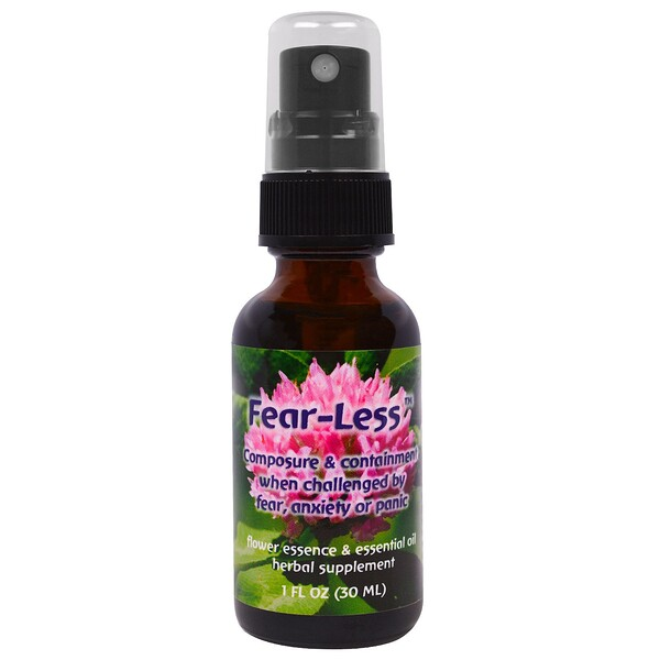 Flower Essence Services, Fear-Less, esencia floral y aceite esencial, 1 oz líquida (30 ml)