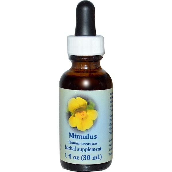 Flower Essence Services, Mimulus, Flower Essence, 1 fl oz (30 ml) (Discontinued Item)