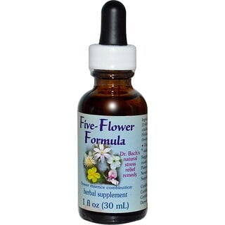 Flower Essence Services, Five-Flower Formula, Flower Essence Combination, 1 fl oz (30 ml)