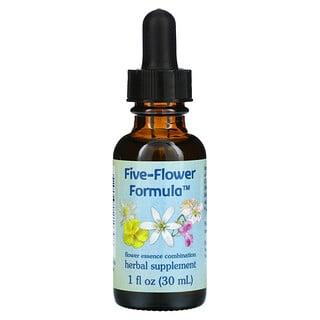 Flower Essence Services, تركيبة من خمس زهور، مزيج من مستخلصات الزهور، 1 أونصة سائلة (30 مل)