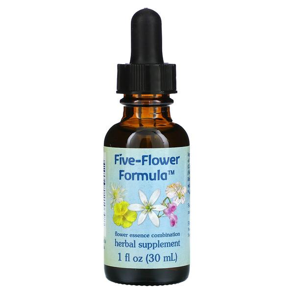 Five-Flower Formula, Flower Essence Combination, 1 fl oz (30 ml)