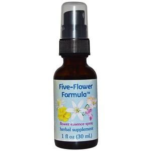 Flower Essence Services, Five-Flower Formula, спрей цветочной эссенции, 30 мл