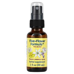 Flower Essence Services, 五種花卉配方,花卉精華噴霧,不含酒精,1液體盎司(30毫升)