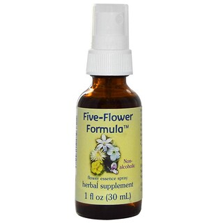 Flower Essence Services, Five-Flower Formula, Flower Essence Spray, Non-Alcoholic, 1 fl oz (30 ml)