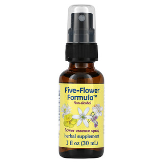 Flower Essence Services, 다섯 꽃 포뮬러, 플라워 에센스 스프레이, 무알코올, 1 fl oz (30 ml)
