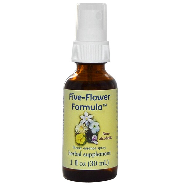 Five-Flower Formula, Flower Essence Spray, Non-Alcoholic, 1 fl oz (30 ml)