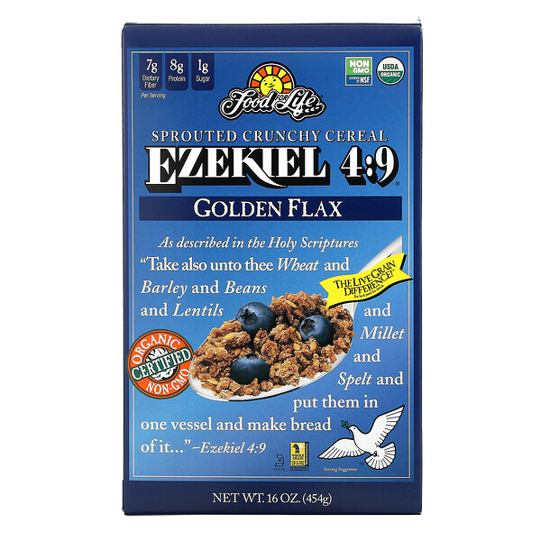 Ezekiel 4:9, Sprouted Crunchy Cereal, Golden Flax, 16 oz (454 g)