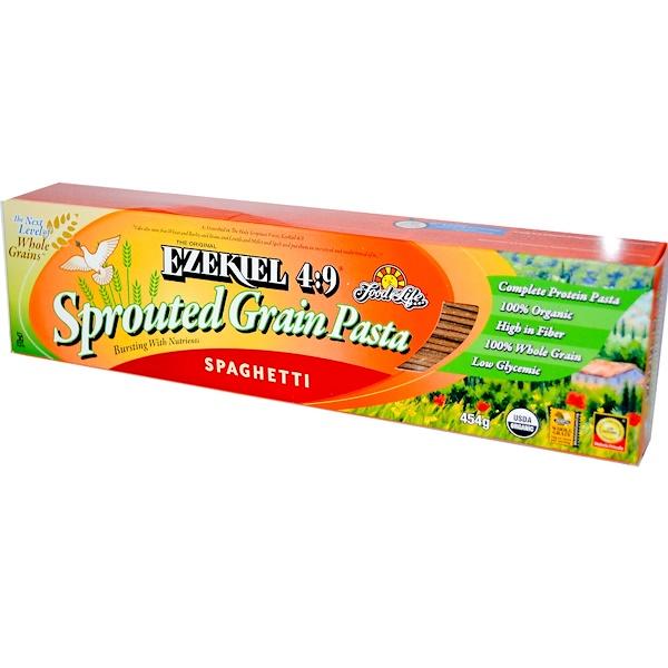 Food For Life, Original Ezekiel 4:9, макаронные изделия из пророщенного зерна, спагетти, 454 г (Discontinued Item)
