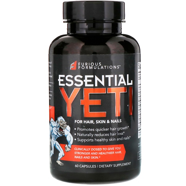 Essential Yeti For Hair, Skin & Nails, 60 Capsules