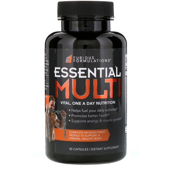 FURIOUS FORMULATIONS, Essential Multi Vital, One A Day Nutrition, 30 Capsules (Discontinued Item)