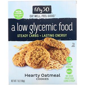 Фифти 50, Low Glycemic Hearty Oatmeal Cookies, 7 oz (198 g) отзывы покупателей