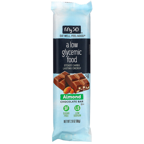 Fifty 50, Almond Chocolate Bar, 2.8 oz (80 g)