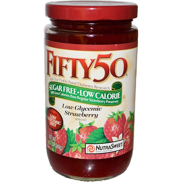 Fifty 50, Low Glycemic Spread, Sugar Free, Strawberry, 12 oz (340 g) (Discontinued Item)