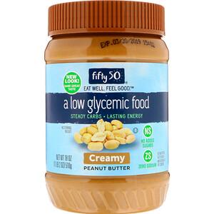 Фифти 50, Low Glycemic Peanut Butter, Creamy, 18 oz (510 g) отзывы