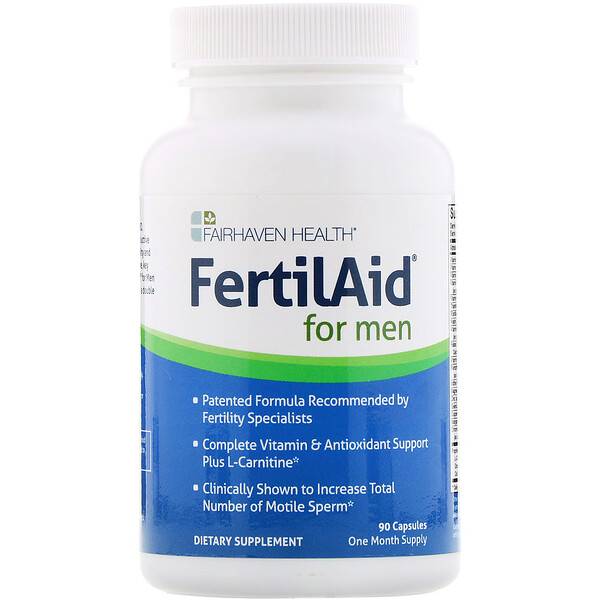 Fairhaven Health, FertilAid for Men, 90 Capsules