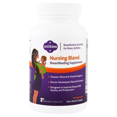 Milkies, Nursing Blend Breastfeeding Supplement, 90 Veggie Caps добавка для кормящих мам, растительных капсул