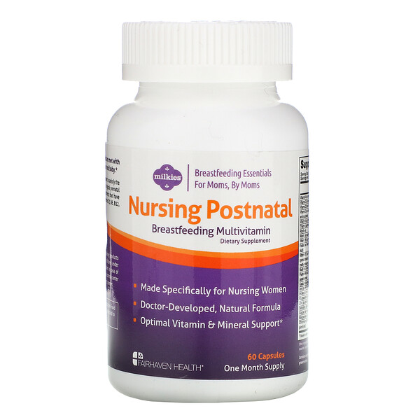 Nursing Postnatal Breastfeeding Multivitamin, 60 Capsules