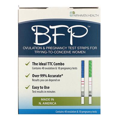 Fairhaven Health BFP, Ovulation & Pregnancy Test Strips, 40 Ovulation & 10 Pregnancy Tests