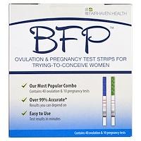 BFP, полоски для тестирования на беременность и овуляцию для женщин, старающихся забеременеть, 40 тестов на овуляцию и 10 тестов на беременность - фото
