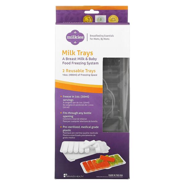 Fairhaven Health, Milkies, Milk Trays, 2 Reusable Trays
