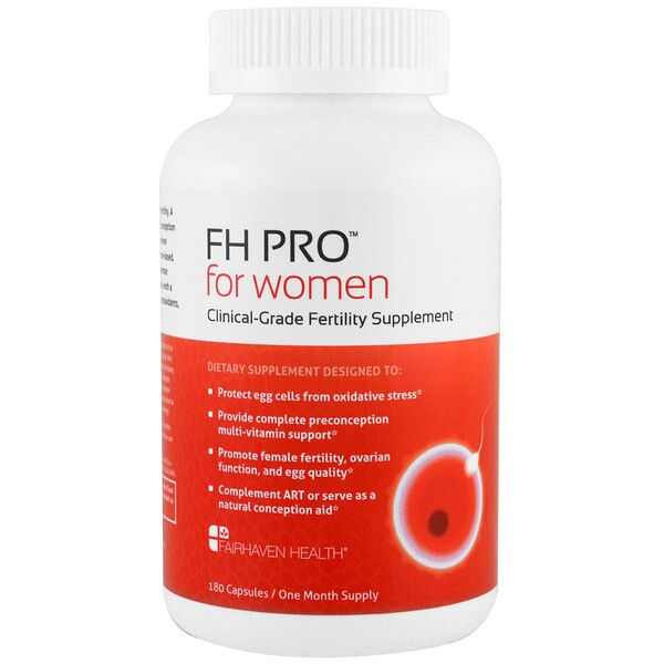 FH Pro for Women, Clinical-Grade Fertility Supplement, 180 Capsules
